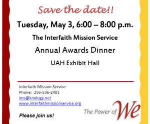 IMS Annual Awards Dinner @ University of Alabama Huntsville - Exhibit Hall | Huntsville | Alabama | United States