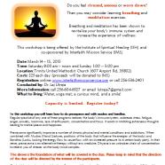 Breathing and Meditation Workshop