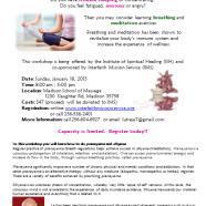 Give Yourself the Gift of Health – Breathing and Meditation Workshop