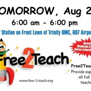Today – Free2Teach School Supply Drive